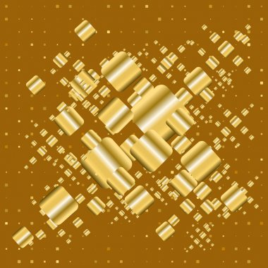 gold geometric background