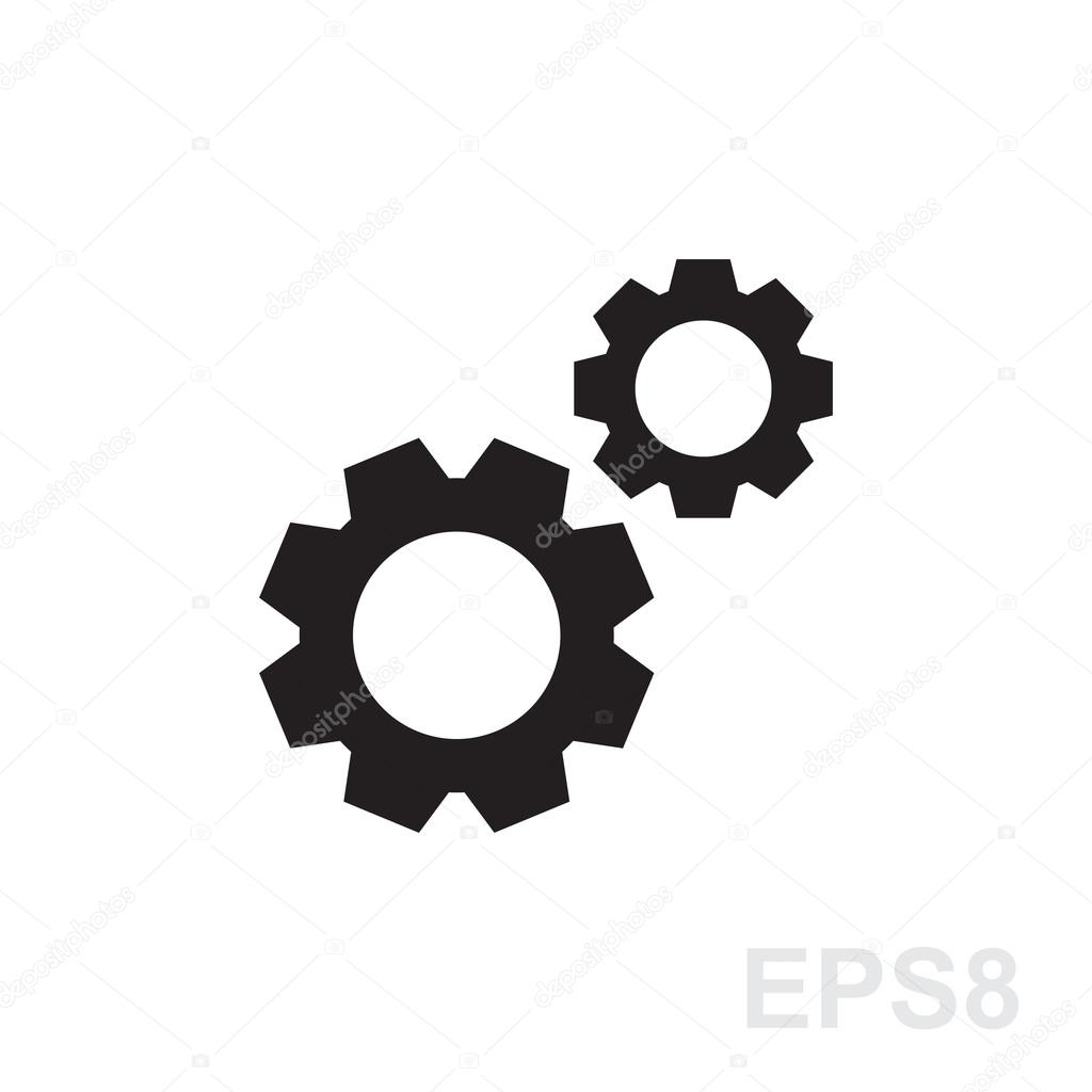 Gear or cog icon illustration — Stock Vector