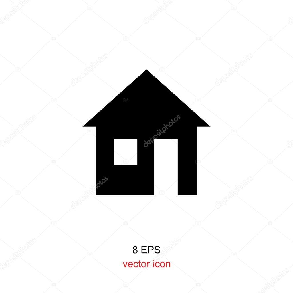 haus schwarz wei symbol stockvektor artem stepanov 120619296. Black Bedroom Furniture Sets. Home Design Ideas