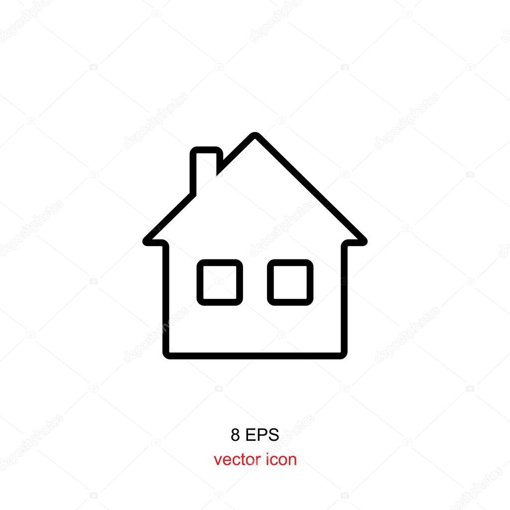 haus schwarz wei symbol stockvektor artem stepanov 120619308. Black Bedroom Furniture Sets. Home Design Ideas