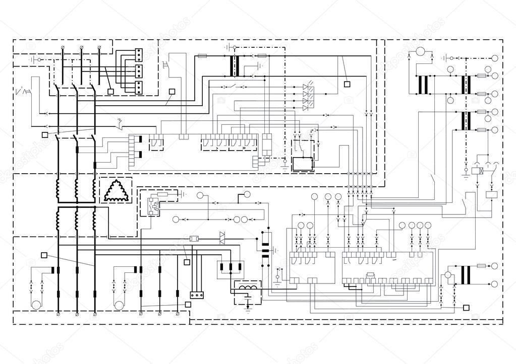 Schematische Darstellung, Stromkreis — Stockvektor © Artem_Stepanov ...
