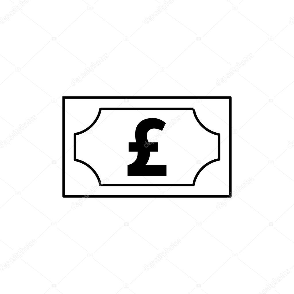 Money Pound Icon Stock Vector Artemstepanov 120640626