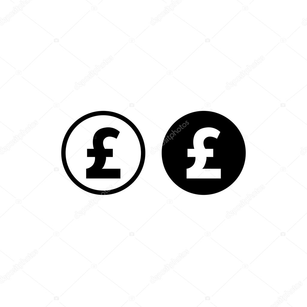 Money Pound Icon Stock Vector Artemstepanov 120640662