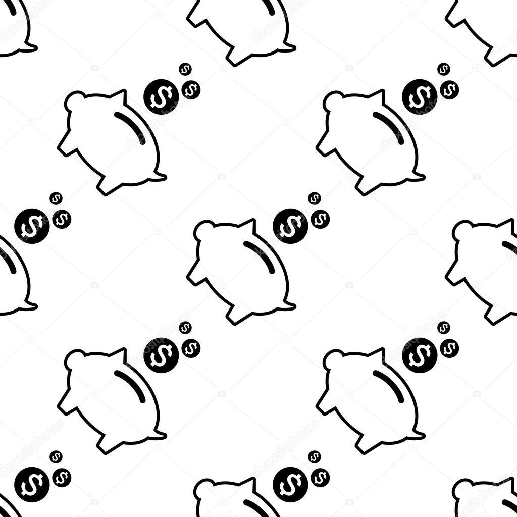 Schweinchen Geld-Bank-Symbol — Stockvektor © Artem_Stepanov #120669162