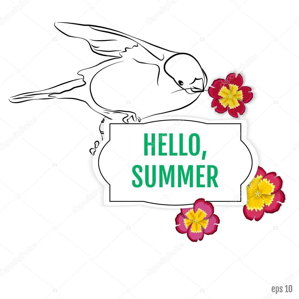 夏のベクトルの背景夏のお楽しみこんにちは夏のベクトル イラスト