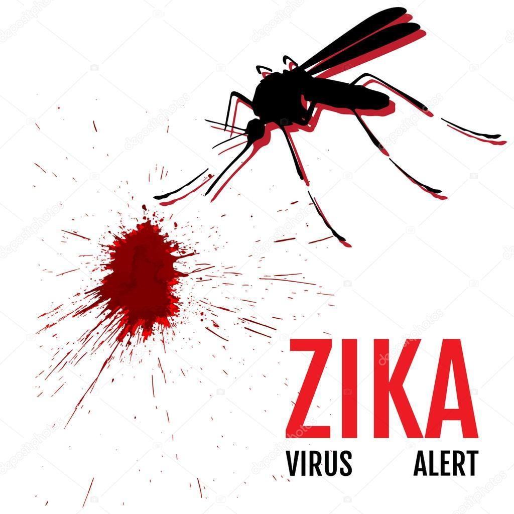 Alerta De Virus Zika Mosquito Con La Frase Alerta De Virus
