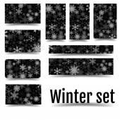 Fotografie Christmas set  Corporate design in winter style