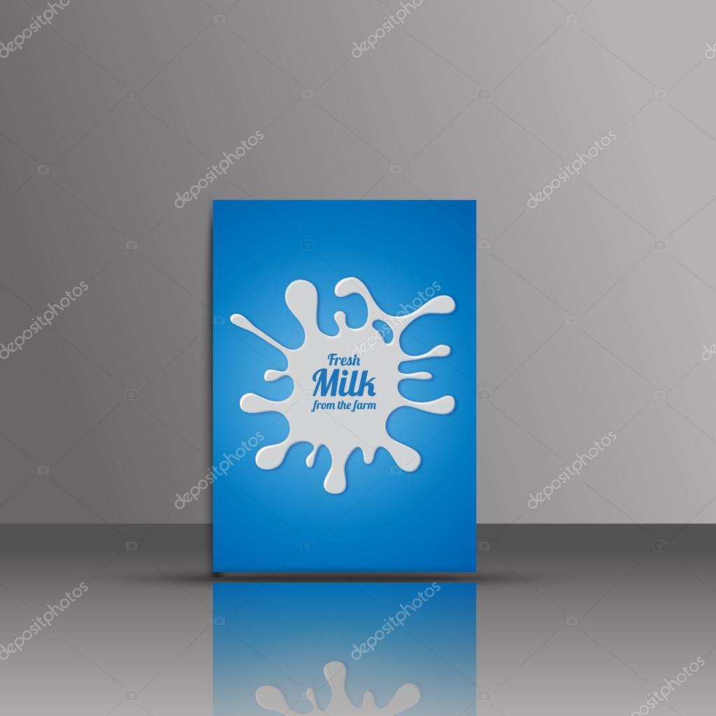 Izole Mavi Vektör Süt Logosunu Görmeniz Gerekir Boya Leke Simgesi