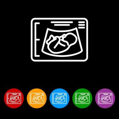 Web line icon. Ultrasonography