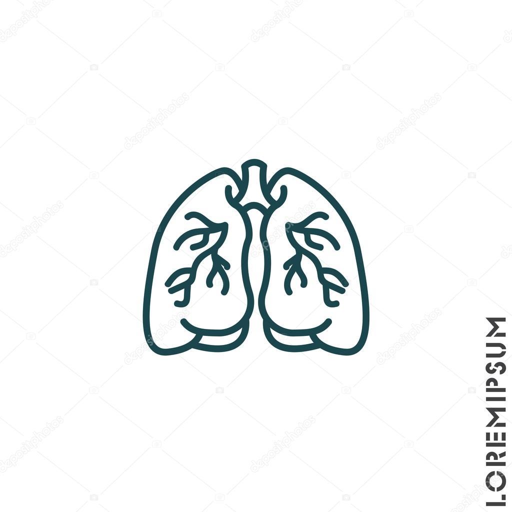 Organ des Menschen, Lunge — Stockvektor © PPVector #120425754