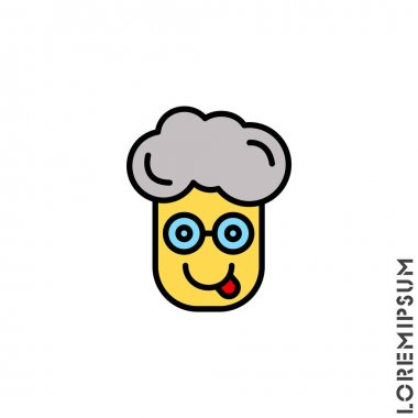 Playful smile yellow boy, man icon. Simple vector of emoji icons for ui and ux, website or mobile application. isolated with tongue out icon icon