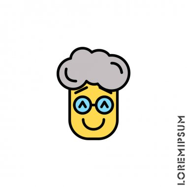 Laughing, emoticon yellow boy, man icon. Nice smile. Funny, face vector. Humor, smile, positive symbol for web and mobile apps. icon