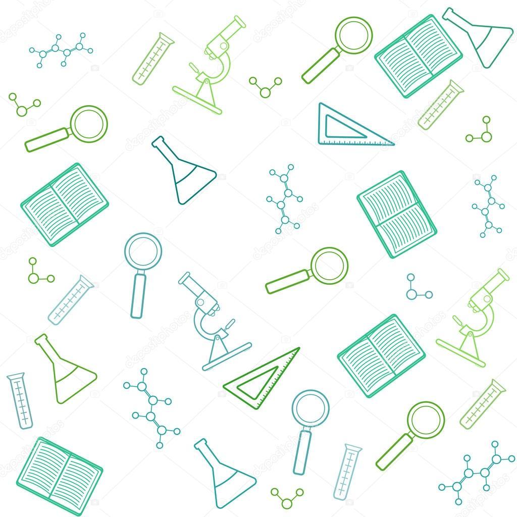 Fondo laboratorio vector