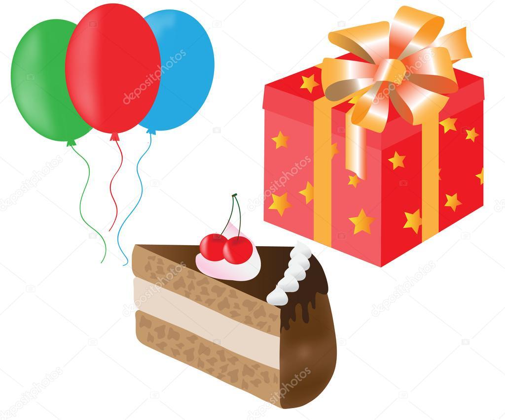 Set De Torta, Globos, Cajas De Regalo Para Cumpleaños