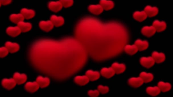 animation of red hearts