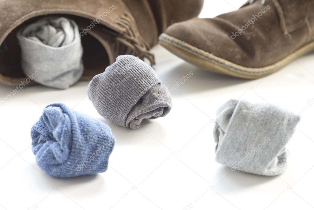 Socken Und Braune Schuhe Stockfoto Gulakow At Yaru 120880904