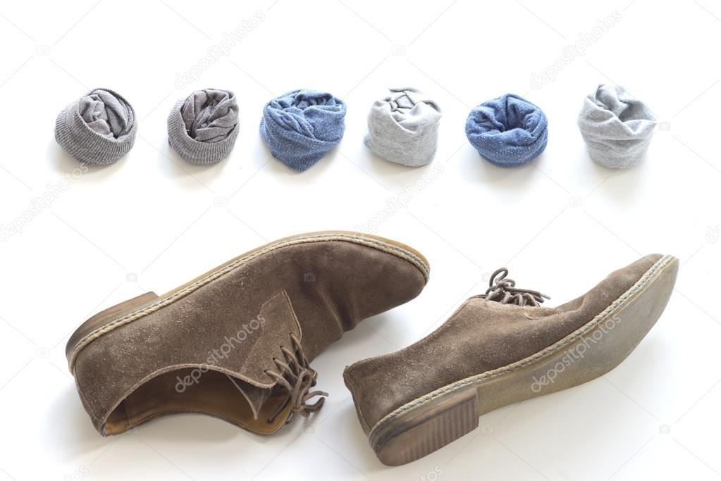 Socken Und Braune Schuhe Stockfoto Gulakow At Yaru 120881188