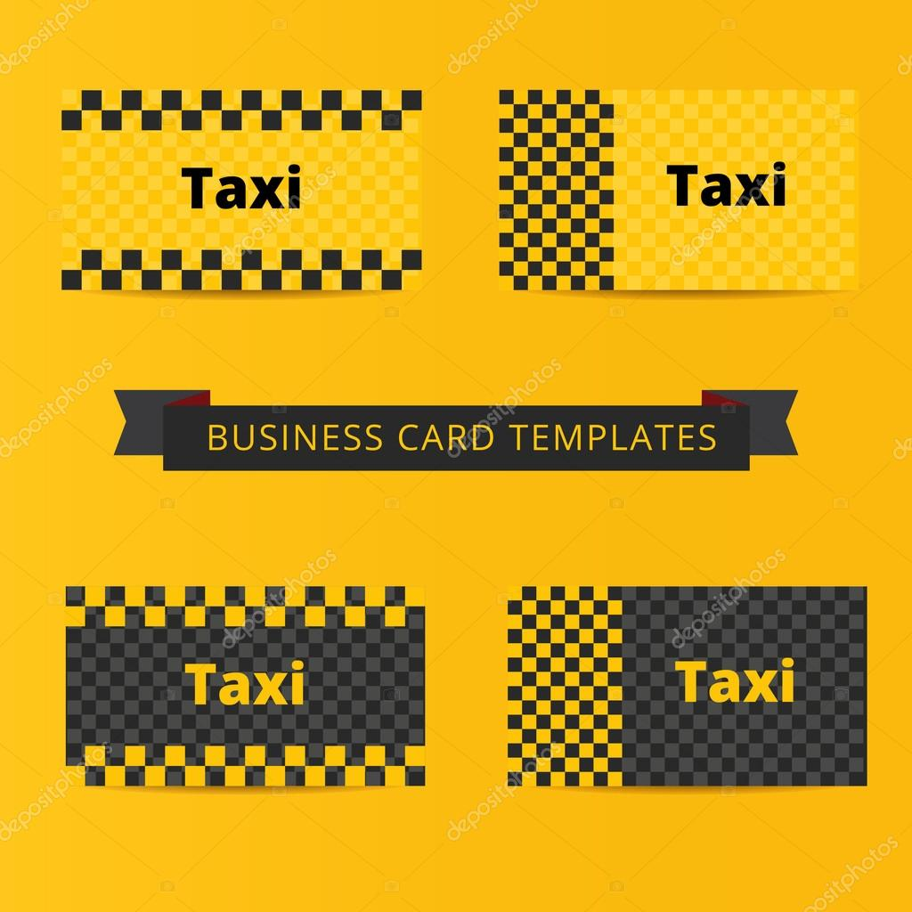 Taxi business card template of yellow and black color vetores de taxi business card template of yellow and black color vetores de stock reheart Image collections