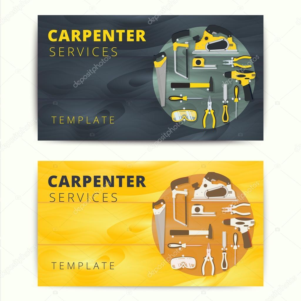 Tischler Oder Mechaniker Service Vektor Visitenkarten Design