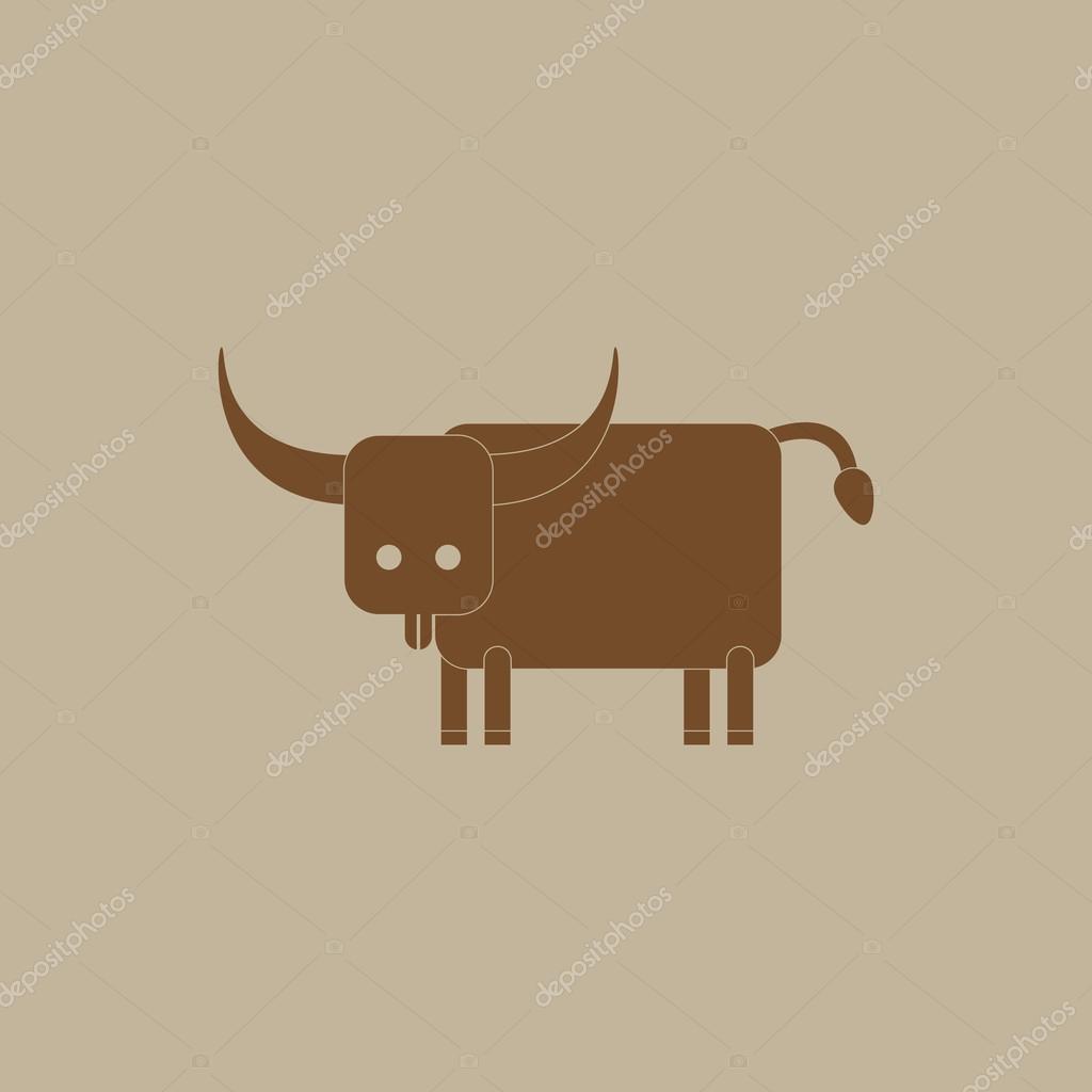 Animale Con Il Toro Di Sfondi Colorati Vettoriali Stock