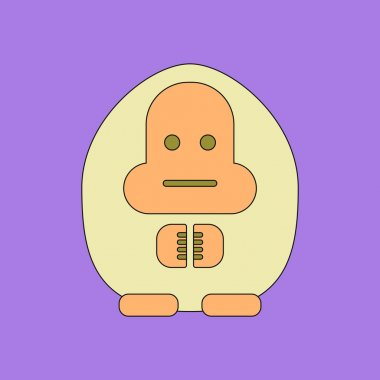illustration in flat icon design turtle