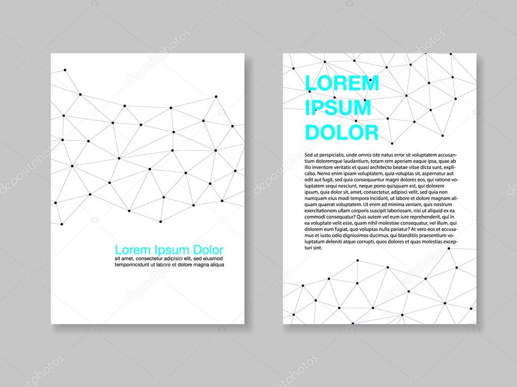plantilla de diseño, conjunto de dos páginas a4 con un diseño ...