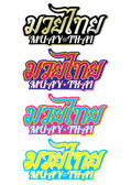 Photo Muay Thai (Popular Thai Boxing style) text, font, graphic vector. Muay Thai beautiful vector logo