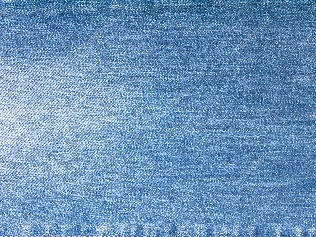 Light Blue Washed Denim Stock Photo