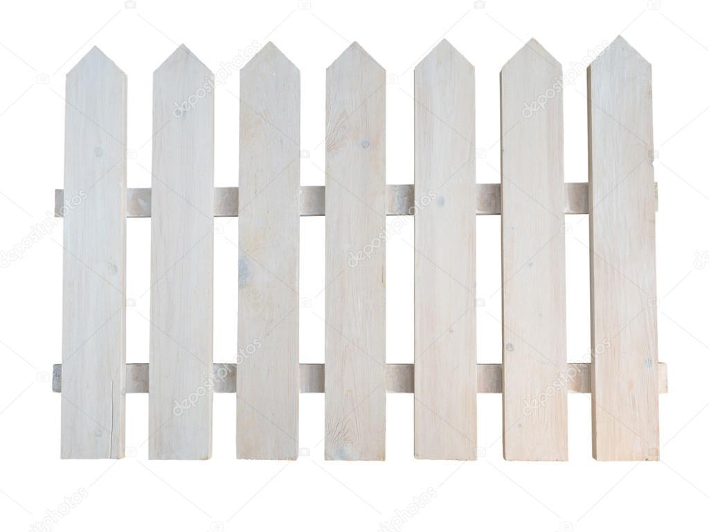 Holz Rau malte dekorative Häuschen Gartenzaun — Stockfoto