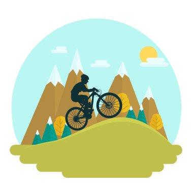 Female mountain bike rider