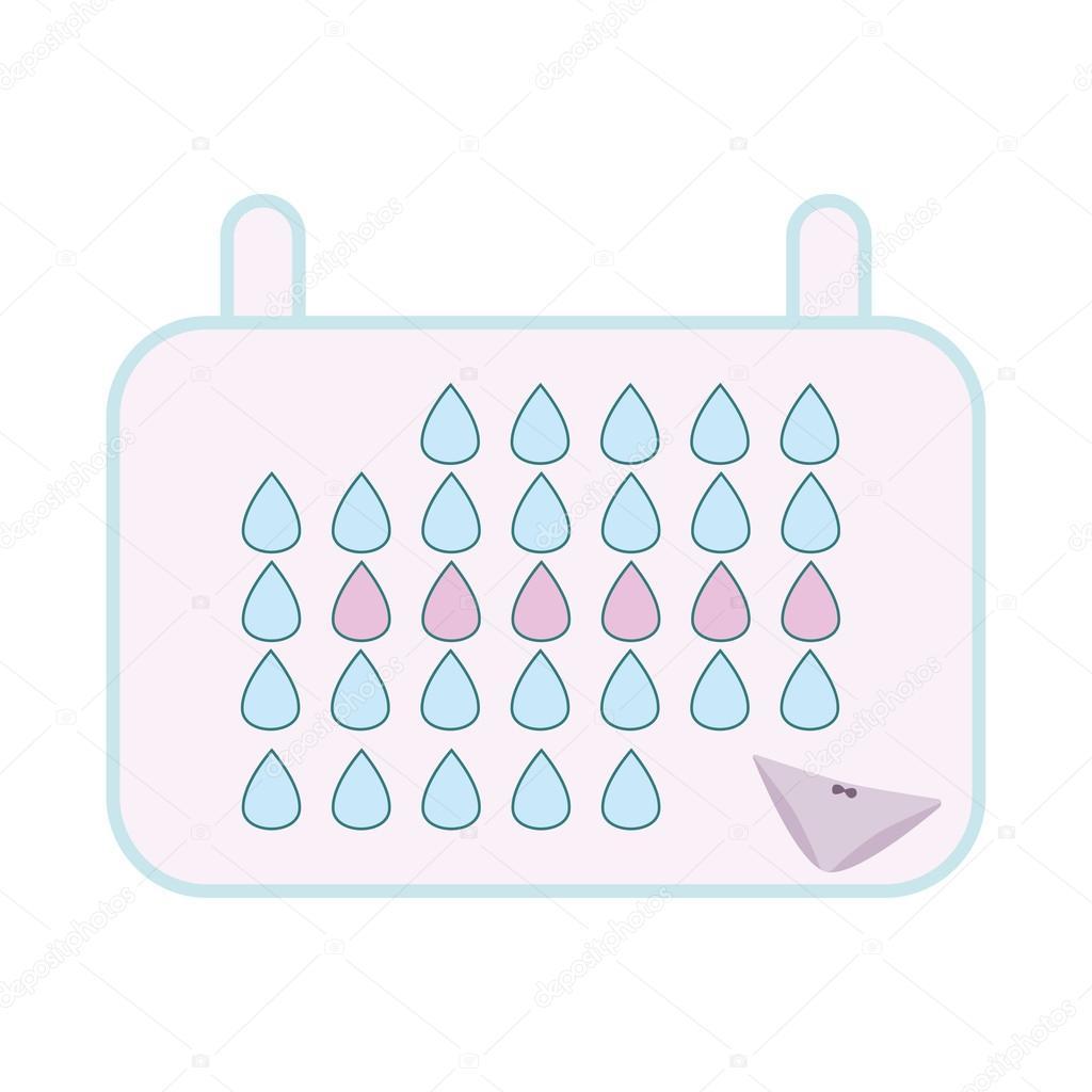 menstruation kalender frau hygieneschutz stockvektor. Black Bedroom Furniture Sets. Home Design Ideas