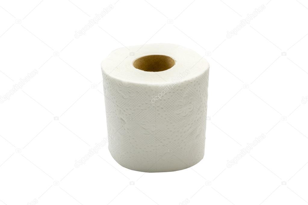 Rotoli Di Carta Igienica : Rotoli di carta igienica isolato su sfondo bianco u foto stock