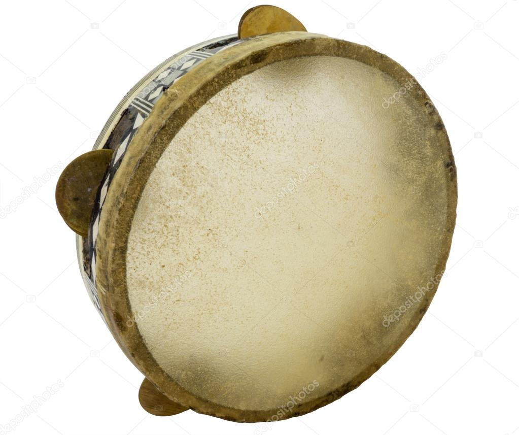 Traditional musical instument egyptian tambourine made of ...