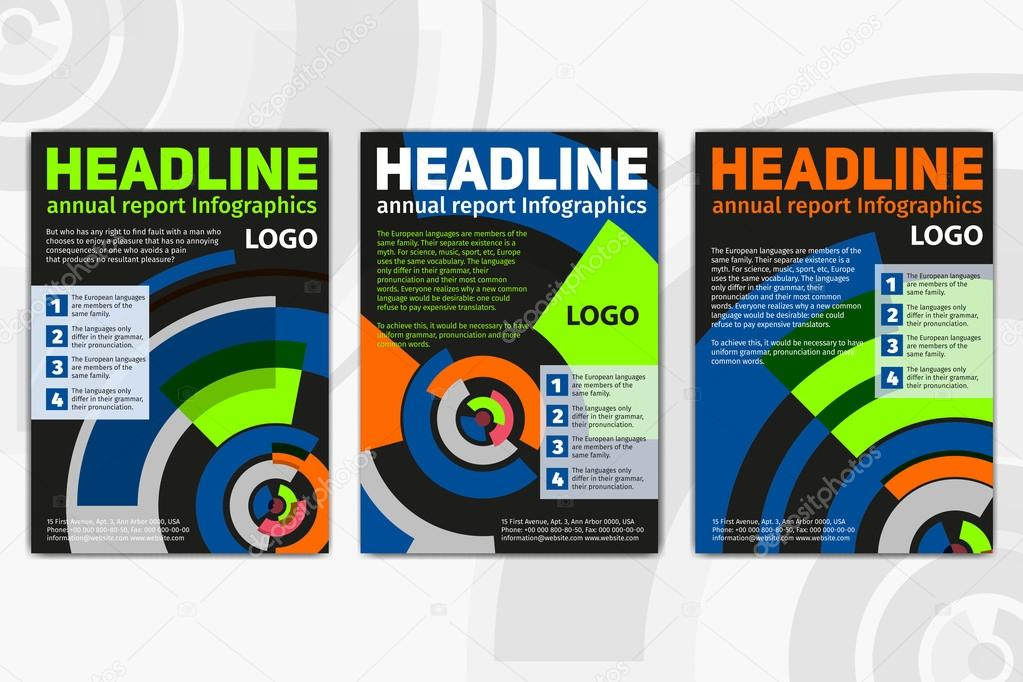 Black Brochure Template Layout Cover Design Annual Report Magazine