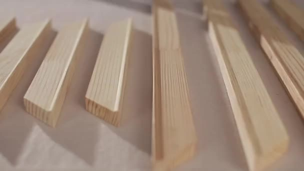 wooden slats on the table