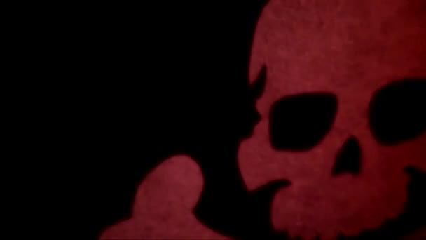 Tibie incrociate su sfondo scuro