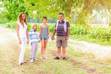 Family Walking at the Park