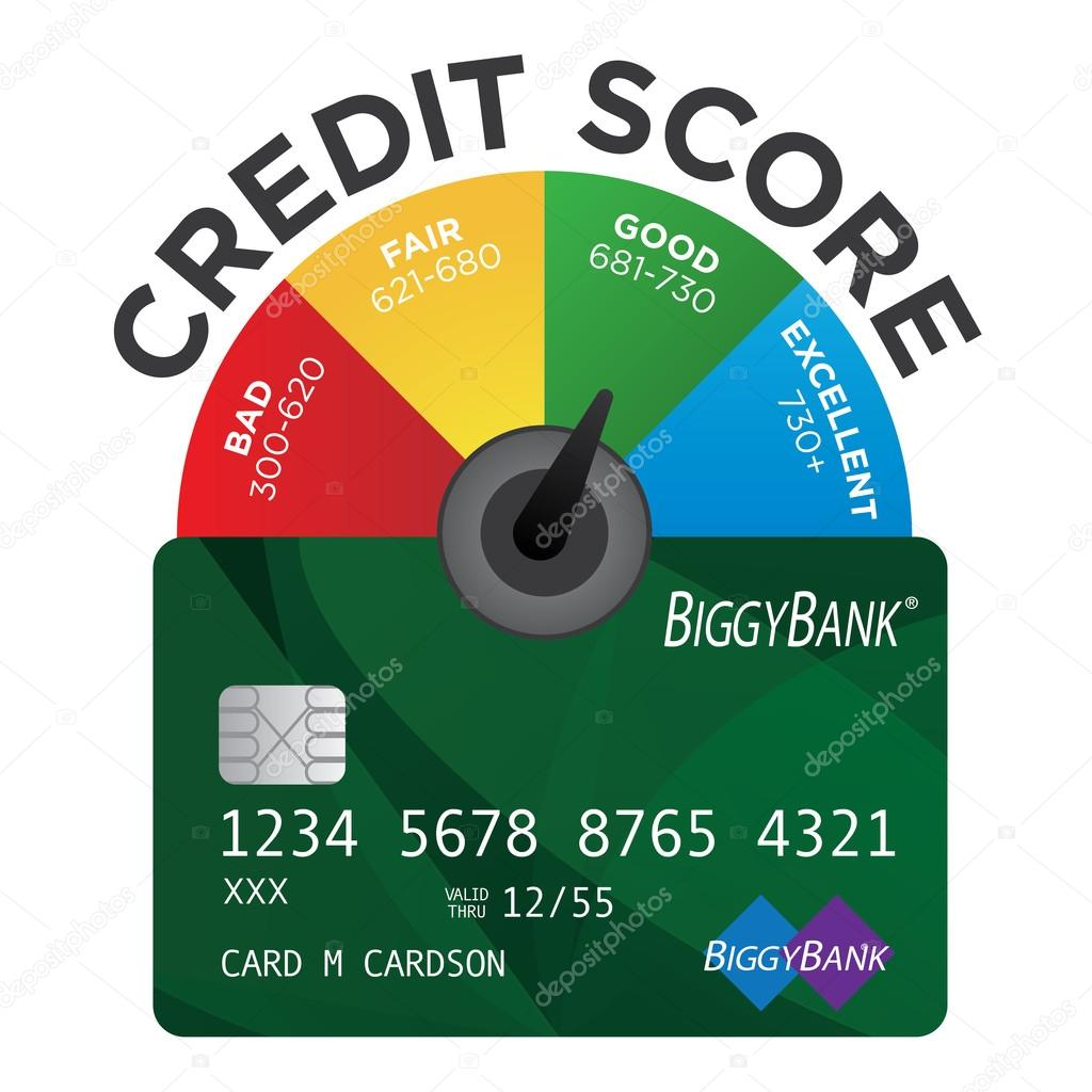 730 Credit Score >> Credit Score Chart Or Pie Graph With Realistic Credit Card