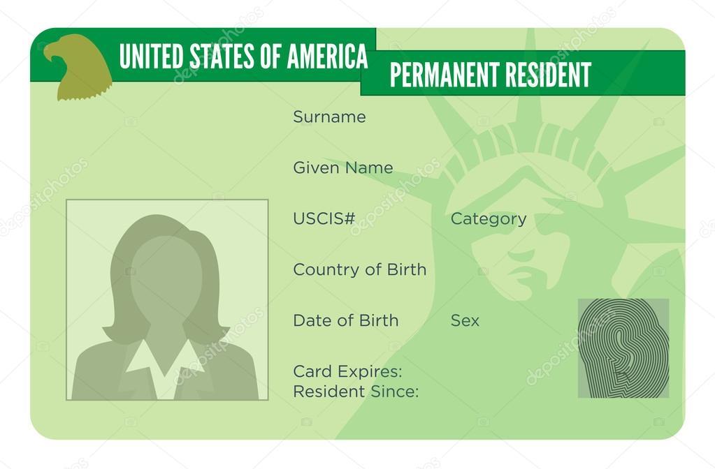 Noi Green Card per l\'immigrazione — Vettoriali Stock © bearsky23 ...