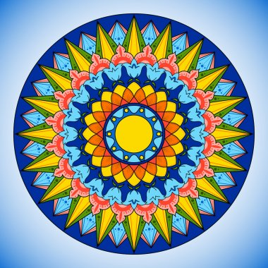 Bright color wheel pattern vector.