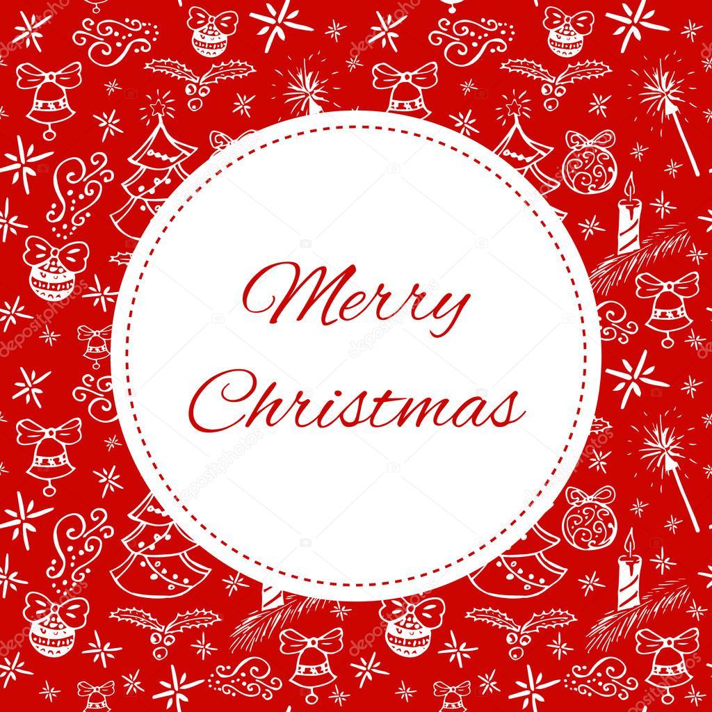 Frohe Weihnachten Karte Vorlage Vektor. Drucken Sie mit weißen ...