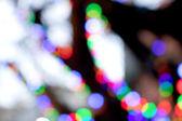 abstraktní kruhový bokeh pozadí christmaslight