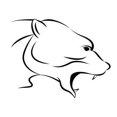 Polar bear head vector illustration