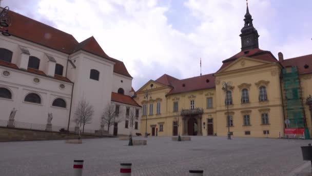 Prázdné ulice města Brna během Coronavirus disease 2019 (Covid-19) v České republice.
