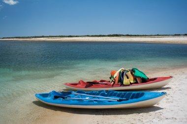 boats at Jericoacoara beach in Brazil