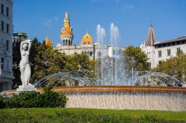 beautiful fountain in Barcelona
