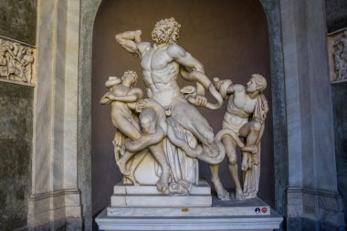 statue of Laocoon and His Sons in Rome