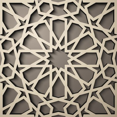 Background with 3d seamless pattern in Islamic style .    , arabic geometric east ornament , persian motif .