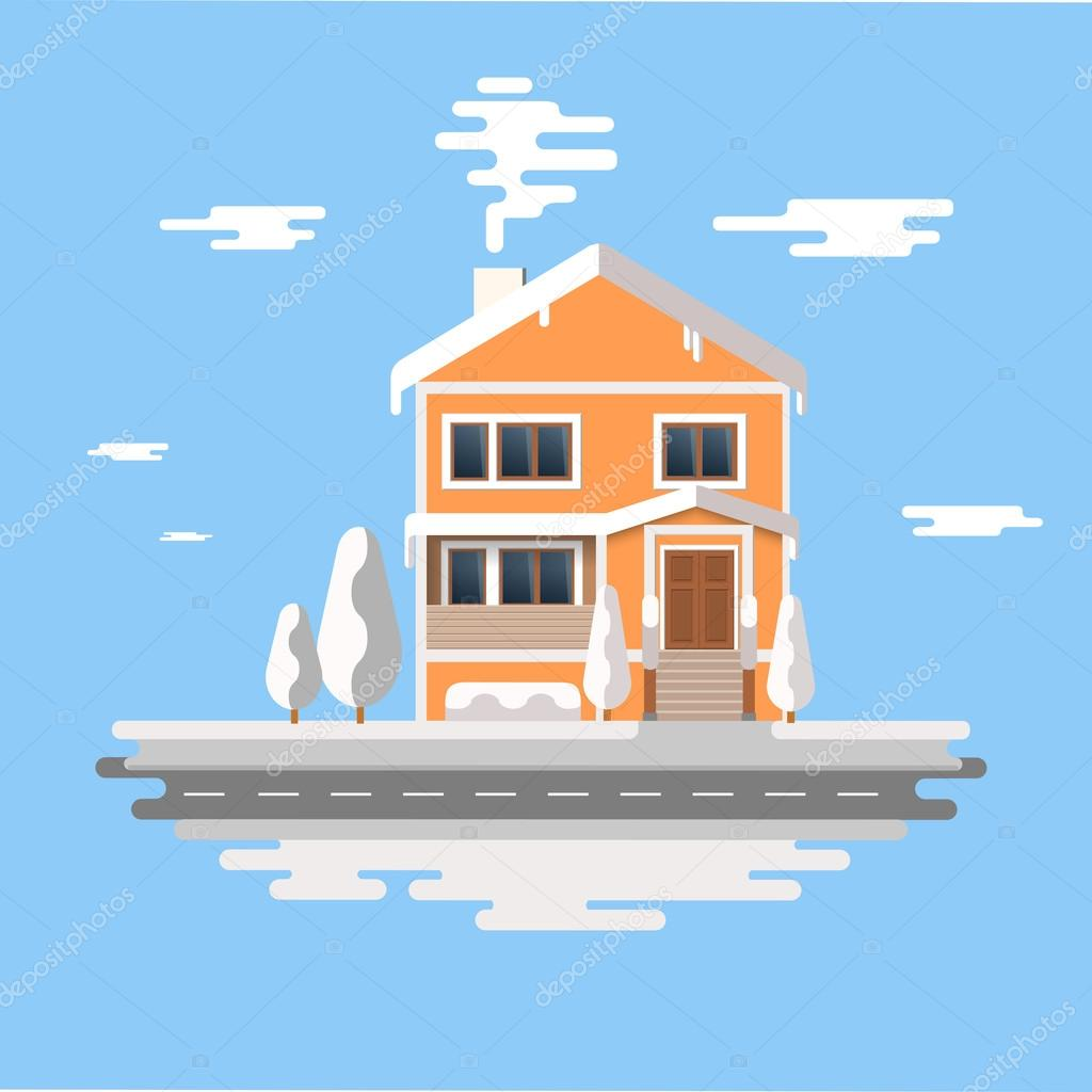 House Vector Background Images
