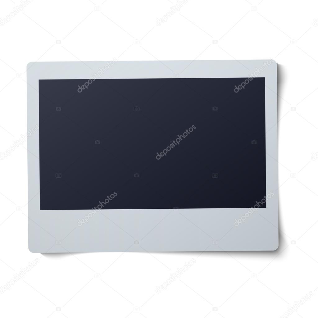 Polaroid Rahmen-Vektor-Illustration isoliert auf weißem Hintergrund ...